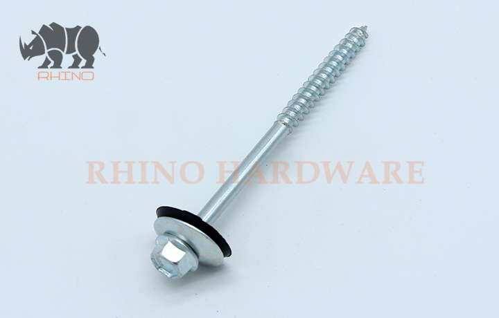 Hex Washer Screw With Big EPDM Washer, Part Thread