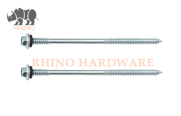 Hex Flange Head Self Drilling Screw Double Thread With EPDM